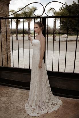 שמלת כלה סטרפלס תחרה מיוחדת