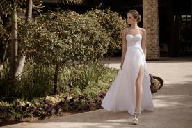 שמלת כלה מחשוף לב ושסע