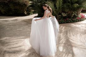 שמלת כלה גב פתוח רומנטית