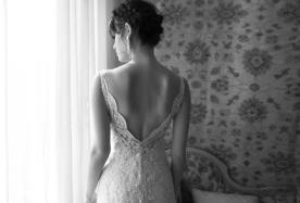 שמלת כלה גב חרוזים עשיר