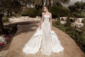 שמלת כלה חצאית נפוחה מעוצבת