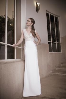 שמלת כלה קלאסית חצאית משי