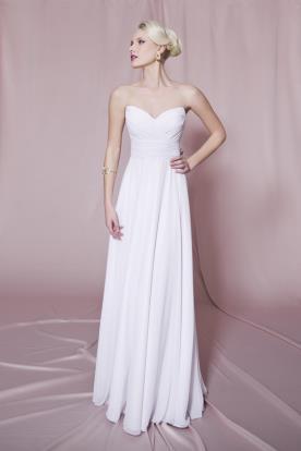 שמלת כלה סטרפלס למראה אצילי