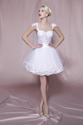 שמלת כלה מיני ללוק נסיכתי