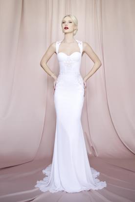 שמלת כלה צמודה למראה הוליוודי