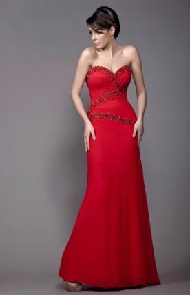 שמלת ערב עם מחשוף לב