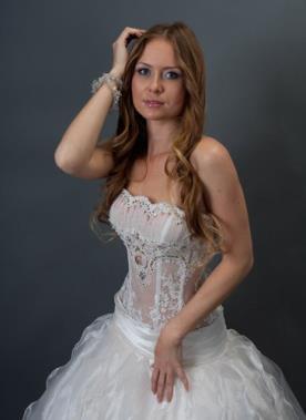 שמלת כלה מחוך עם אלמנט תחרה