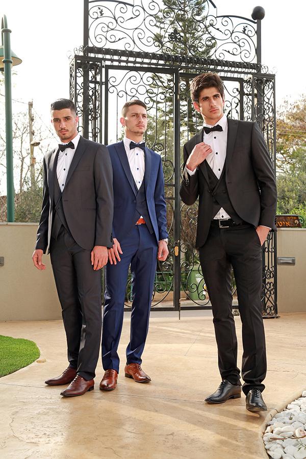 חליפות שלושה חלקים- קולקציית חתנים 2016