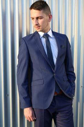 חליפת חתן- בלייזר עם כיסים תחתונים