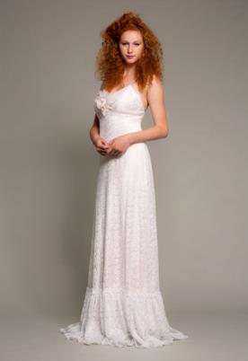 שמלת כלה רומנטית ורדרדה
