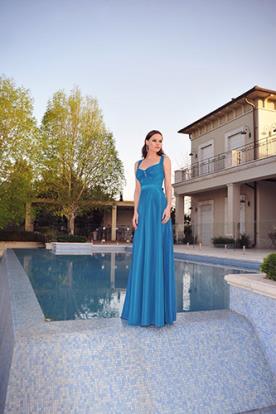 שמלה כחולה קלאסית לערב