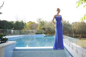 שמלת ערב שיפון אלגנטית
