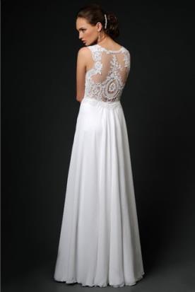 שמלת כלה עם גב תחרה מיוחדת