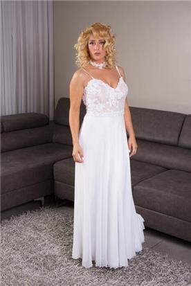 שמלה עם מחשוף עמוק