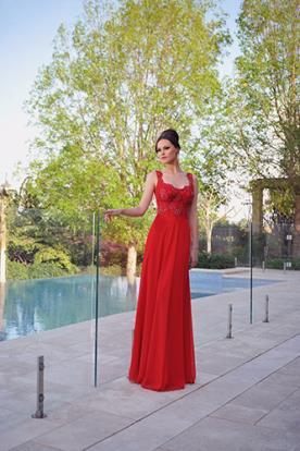 שמלת ערב מרשימה באדום