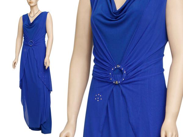 שמלת ערב כחולה עם אבזם