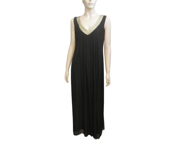 שמלת ערב שחורה מינימליסטית