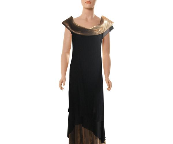 שמלת ערב צווארון ברונזה