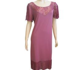 שמלת ערב ורודה רחוקה מהגוף
