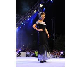 שמלת ערב צווארון סאטן