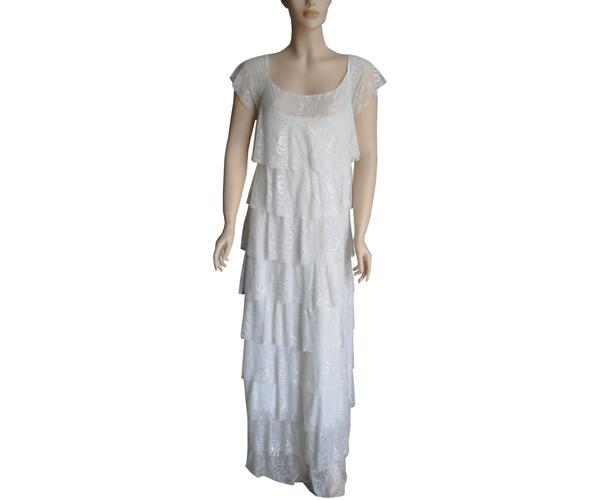 שמלת ערב לבנה קומות