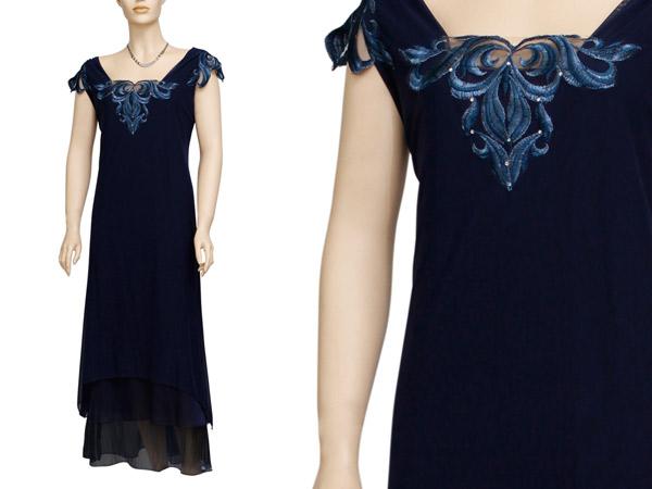 שמלת ערב אפליקציה כחולה