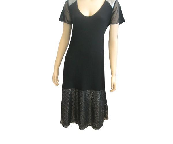שמלת ערב שחורה גזרת איי