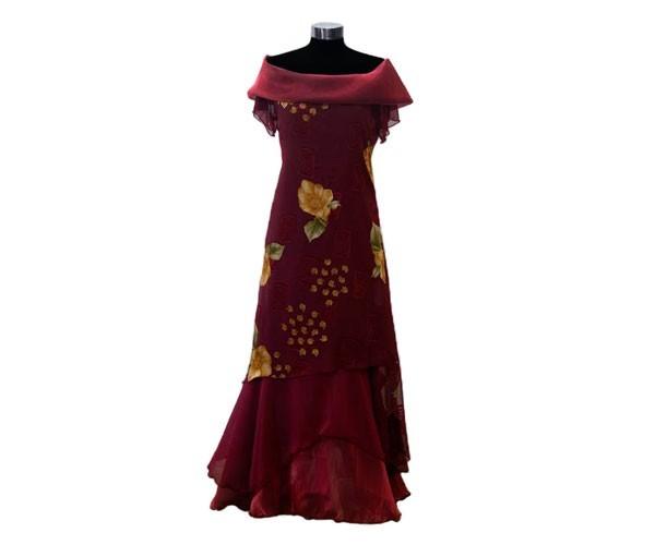שמלת ערב צנועה פרחונית