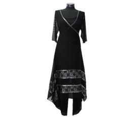 בגד ערב צנוע בצבע שחור