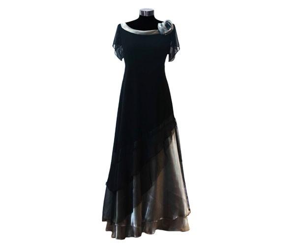 שמלת ערב צנועה עם שושנה