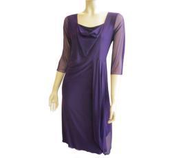 שמלת ערב צנועה סגולה
