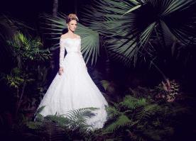 שמלת כלה לבנה אוף שולדר