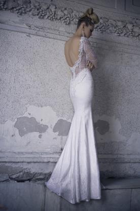 שמלת כלה בת הים עם שרוולים