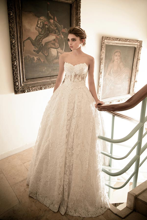 שמלת כלה מחוך תחרה עדין