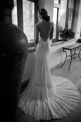 שמלת כלה שובל שיפון נשפך