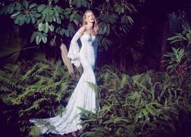 שמלת כלה בוהמיינית שרוול ארוך