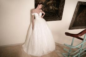 שמלת כלה מחשוף לב עמוק