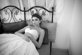 שמלת כלה רומנטית מחוך פרחוני