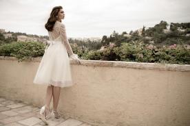 שמלת כלה צנועה חצאית עד הברך