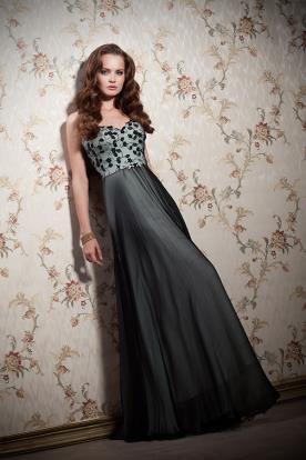 שמלת עrב ירוקה עם פרחים