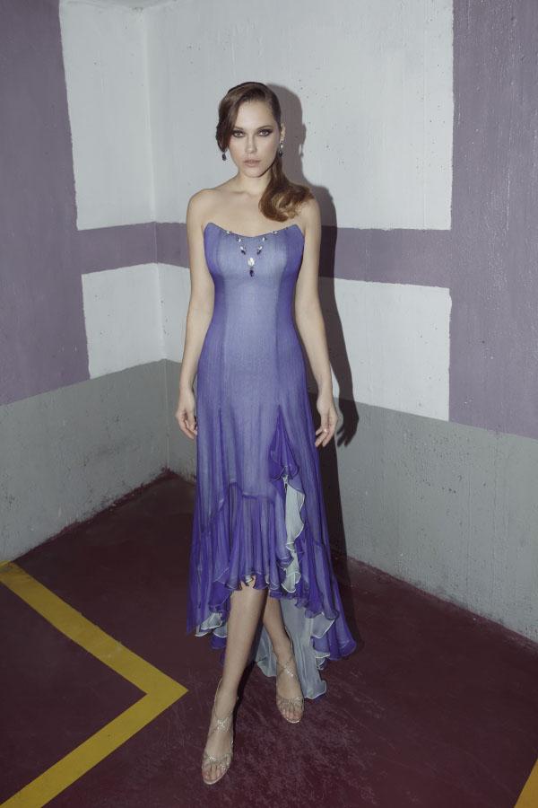 שמלת ערב עם חצאית באורכים שונים
