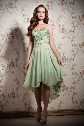 שמלת ערב מיני ירוקה