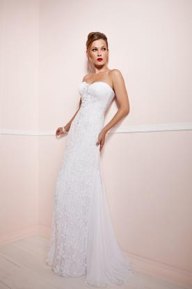 שמלת כלה צמודה עם מחוך סטרפלס