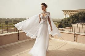שמלת כלה עם עליונית פליסה אוורירית