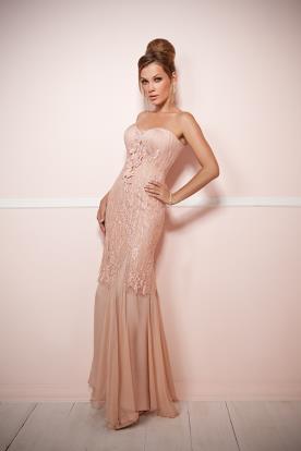 שמלת ערב ורודה מנצנצת