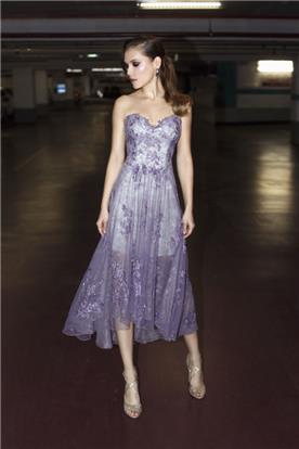 שמלת ערב סגולה מידי