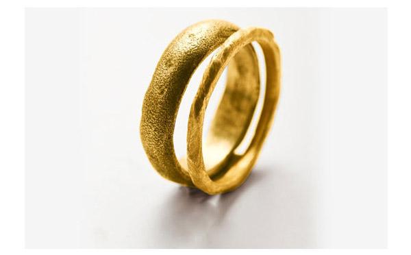 סט טבעות נישואין מעוגלות
