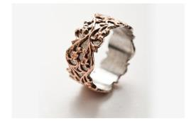 טבעת רומנטית עדינה לכלה