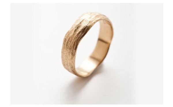 טבעת קלאסית שוליים גליים
