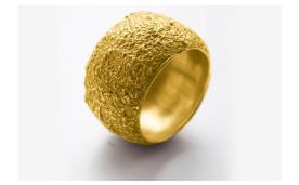 טבעת מעוגלת עם חספוס עדין